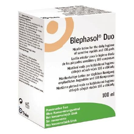 Blephasol Duo 100Ml With 100 Pads