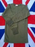 ## NEW ## FRENCH MILITARY OLIVE THERMAL LONG SLEEVED TOP