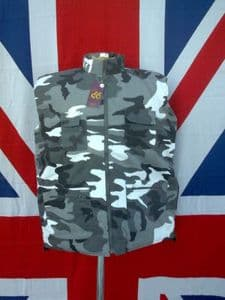 ## NEW ## SNOW CAMO QUILTED BODY WARMER