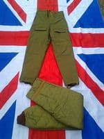 ARMY MILITARY EXTREME COLD QUILT LINED INSULATED TROUSERS