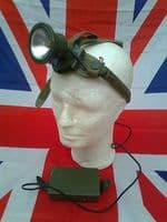 EX ARMY MILITARY OLIVE STRONG HEAD TORCH