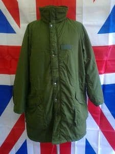 EX ARMY MILITARY SWISS QUILTED LINED COLD WEATHER JACKET WITH HOOD