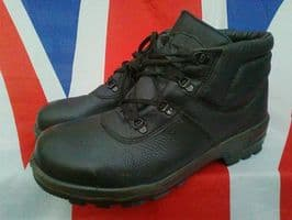 GERMAN ARMY MILITARY LEWS BLACK BOOTS STEEL TOE CAPPED