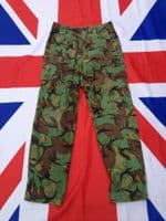 OLD BRITISH GREEN DPM COMBAT LINED TROUSERS