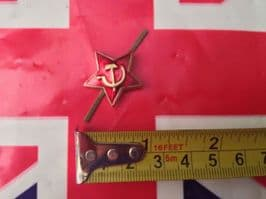RUSSIAN RED STAR BADGE