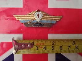 RUSSIAN TANK  NUMBER ONE BADGE