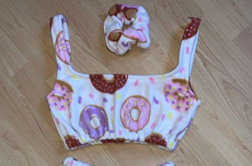Donut Fleece Scrunchie
