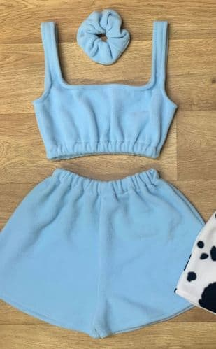Powder Blue Crop