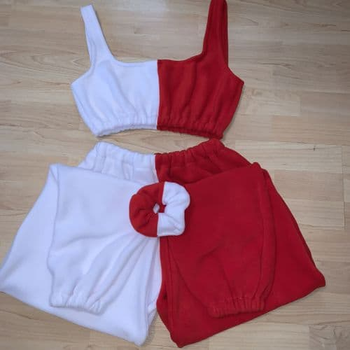 Red & White Joggers (petite)