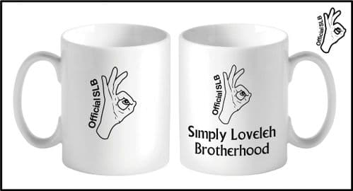 Hand Logo and Simply Loveleh Brotherhood Mug Simply loveleh Brotherhood official mug