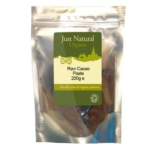 Just Natural Organic Organic Raw Cacao Paste 200g