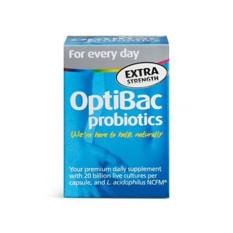 OptiBac Probiotics For Every Day Extra Strength, Pack of 30 Capsules