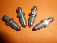 "4 x 3/8"" UNF 24Tpi Imperial Brake Bleed screws"