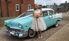 Vintage,Classic 1950's American Wedding Car Hire - PAY DEPOSIT