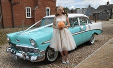 Vintage, Classic 1950's American Wedding Car Service - South Yorkshire Area