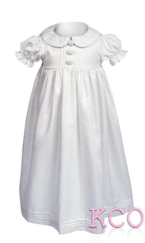 Pintuck Gown White