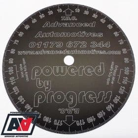 Engine Timing Degree Disc 205mm Advanced Automotive Black Anodised Aluminium | Advanced Automotive