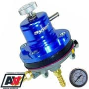 FSE Sytec Blue Motorsport Adjustable Fuel Pressure Regulator 8mm And Free Gauge