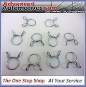Genuine Turbo Oil Return Hose Clips x 10 Subaru Impreza Forester Legacy 805922080