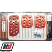 Grayston Competition Pedal Pads Plates Extensions - Red Anodised Race & Rally