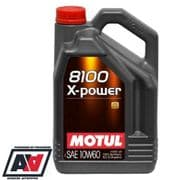 Motul 8100 X-Power 10w-60 High Performance Engine Oil 100% Synthetic 5 Litres