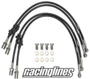 Racinglines Subaru Impreza Stainless Brake Line Kit Front And Rear 92-00