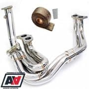 RCM Subaru Impreza Stainless Steel Exhaust Manifold Venturi Headers & Wrap