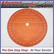 Subaru Engine Timing Degree Disc Wheel Red Anodised Aluminium