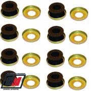 Weber 40 45 48 DCOE Twin Carb Rubber Damper Soft Mounting Kit