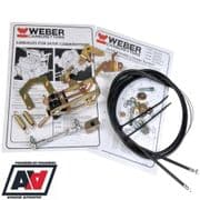 Weber 40 45 50 DCOE Single Or Twin Carb Twin Cable Full Linkage Quality Kit