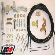 WEBER 40 45 50 DCOE/SP CLASSIC STYLE TWIN CABLE THROTTLE LINKAGE KIT LP2500