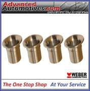 Weber 45 DCOE 75mm Long And 70mm OD Bellmouth Quality Set Of 4 From Webcon UK