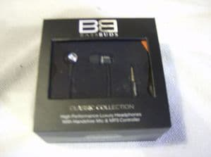 BassBuds Classic Collection Swarovski Crystal Elements In-Ear Headphones black.