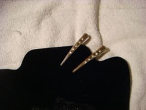 Concorde hair clips pair in silver with diamante.