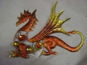 dragon wall plaque red dragon.