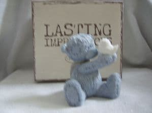 Me To You resin bear  figure lasting impressions holding bird.