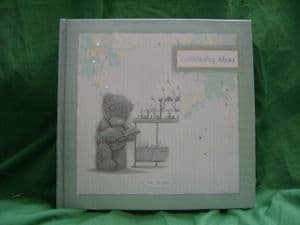 Me To You Tatty Teddy ..Christening Album ..cream and green..