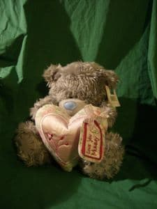 Me To You Tatty Teddy 10inch bear, Love You Mummy..pale pink heart..