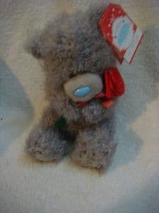 Me To You  Tatty Teddy 7inch   holding single red rose.