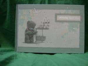 Me To You Tatty Teddy Chistening Guest Book..green..
