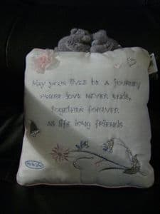 Me To You Tatty Teddy wedding cushion/pillow in cream/pink and silver..wedding..