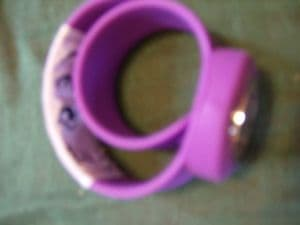 Slap Watch unisex in purple thin strap