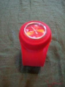 Slap Watch.. unisex in red large strap..