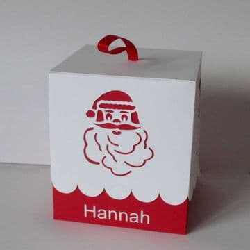 100mm Santa Bauble Box for Round Baubles Template
