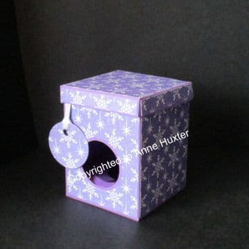 60mm Bauble/Ornament Box with Lift Back Lid Template