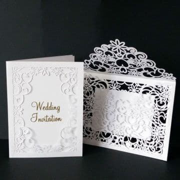 7 x 5 inch Wedding Card with Envelope Template