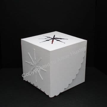 80mm Snowflake Bauble Box Template
