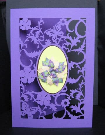 A5 Fancy floral card template