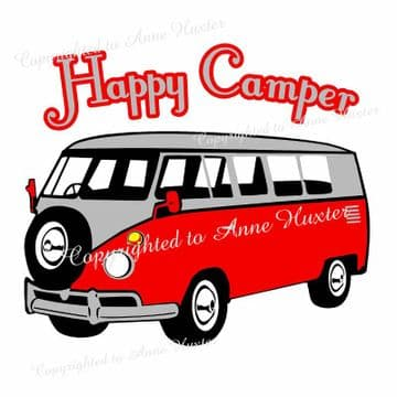 Happy Camper Vinyl Template