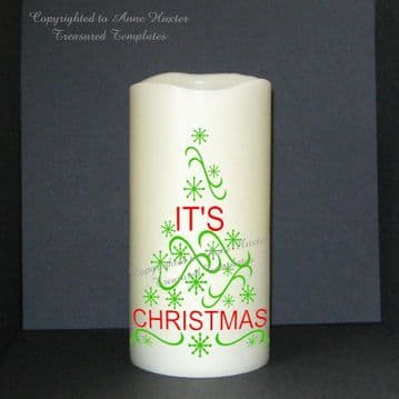 It's Christmas Words Vinyl Design